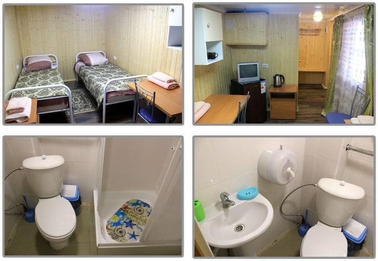 Двухместный номер ЭКОНОМ в корпусе Лабушка в санатории Лаба